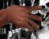 Blk Nails Hands Goth