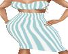 Aqua Stripe Dress