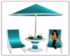 Teal Beach Lounger