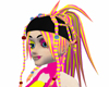 Pink Yellow Rikku Hair