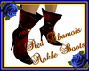 Red Chamois Ankle Boots