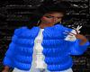 .:BELLA.: BLUE FUR COAT