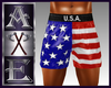 X Mr USA Shorts