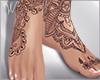 Peace Henna Bare Feet