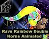 RaveRainbow Double Horns