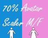 70% Avatar Scaler