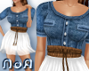 *NoA*Chiffon/Jeans Dress