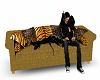 Gold kiss couch