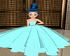 Girl Teal Gown