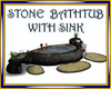 Stone Bathtub with Sink