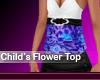Childrens Flower Top