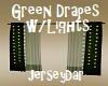 Green Drapes w/lights