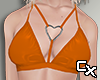 Latex Heart Bra | Orange
