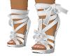 White Silk Ribbon Shoes
