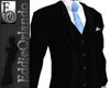EO Blk/Blue 3Piece Suit