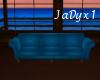 Teal Blue Poseless Sofa