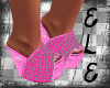 [Ele]Pink Sparkle WEDGES