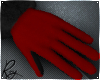 Red and Black Fur Gloves