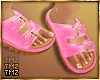 Buckle Bae Sandal -Pink