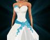 weddingdress turqoise