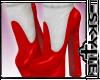 Red Heels White Socks