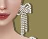 Silver Gift Bow Earrings