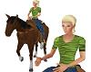 Emma on her Horse-npc