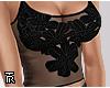 ❥ Lacy Floral Black.