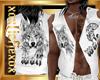 [L] WOLF White Vest M