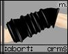 :a: Blck PVC Armwarmer M