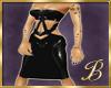 latex dress black