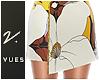 v. Floral Flap Skirt W