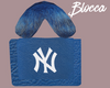 NY Fur Bag Blue. B