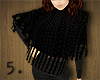 5. Black Knitted Poncho