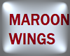 Maroon Angel Wings