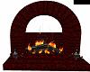 r/g skull fireplace