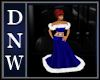 Blue Xmas Ball Gown