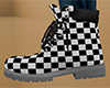 Checkered Work Boots 1 F