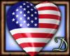[D] USA Heart Balloon