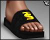 Ts. Blk Slides. (Gold)