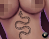 $ Snake Underbreast Tatt
