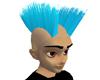 Blue Double Mohawk Hair
