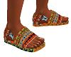 African Print Sandal