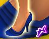 [M] Ruffle Shoes Blue
