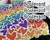 .: Rainbow Heart Bed