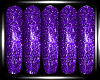 Sparkling Purple Nail