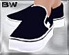 Navy Blue Slip On Shoes