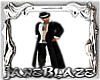 [JB]White/Blk TrenchCoat