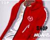 $ His&Hers Hoodie - Red