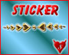 s666 heart divider gold2